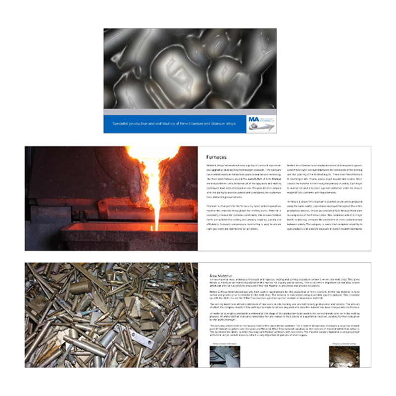 Metals and Alloys brochure design