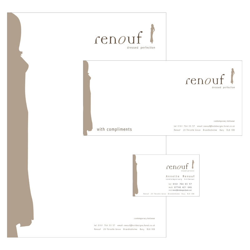Renouf stationery pack design