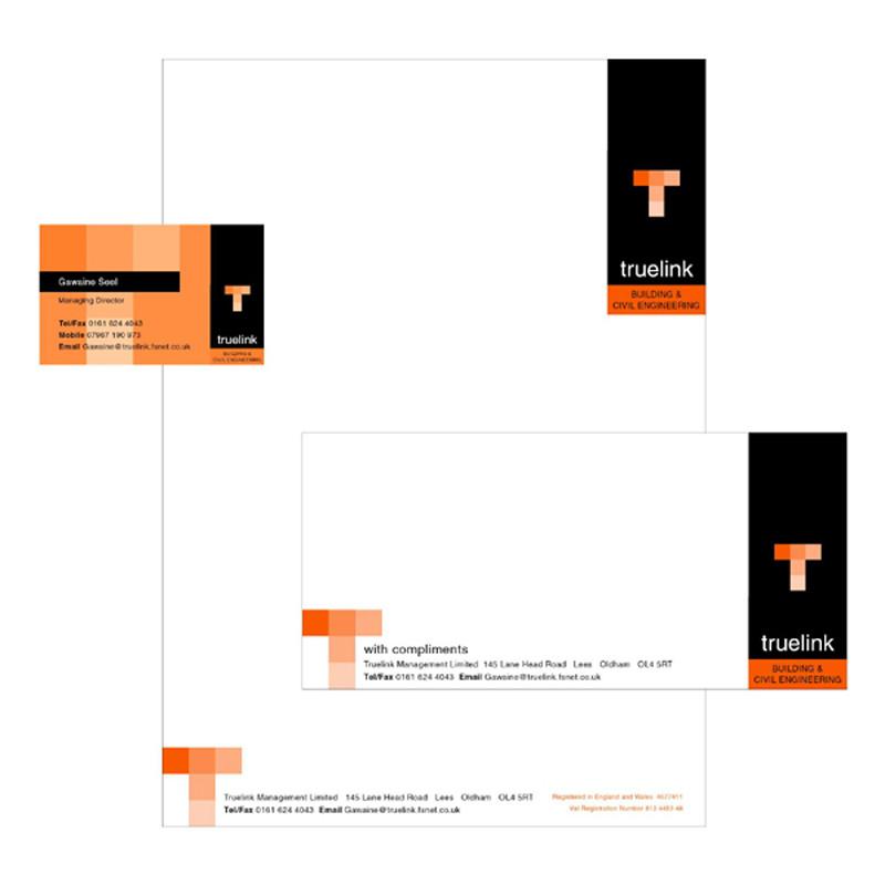 Truelink stationery pack design