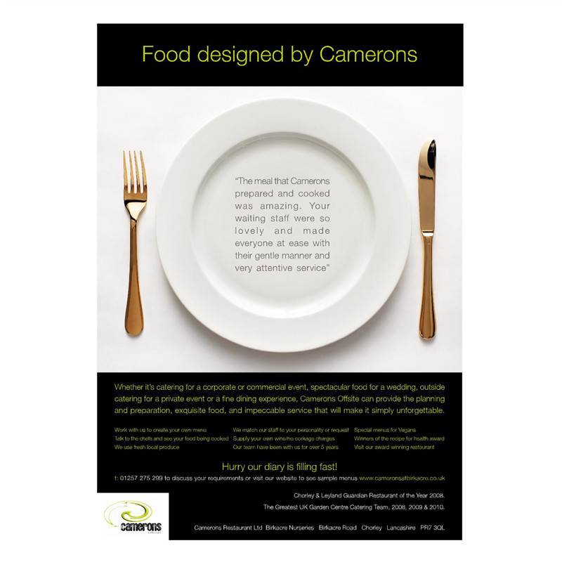 Camerons advert design