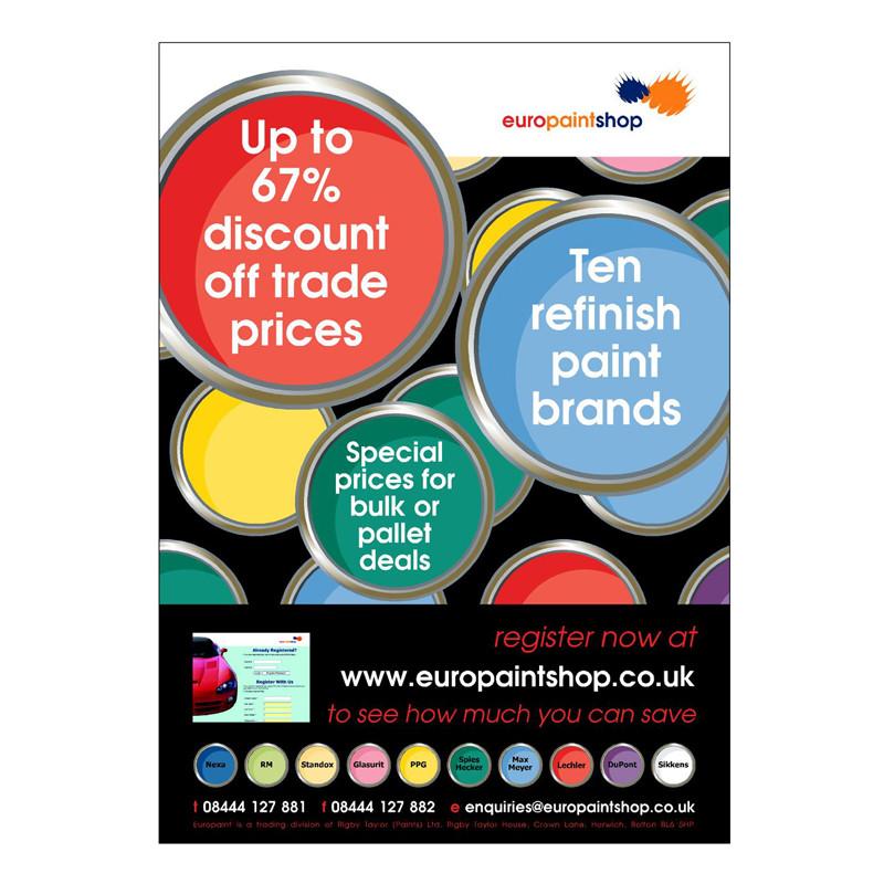 Europaint leaflet design