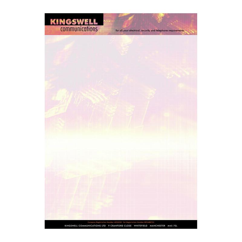 Kingswell letterhead design