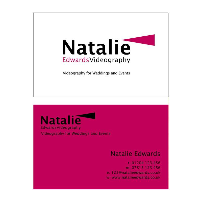 NE Video business card design