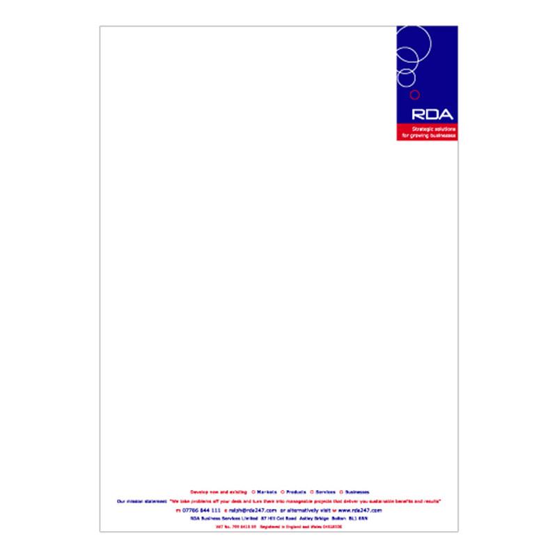 RDA letterhead design