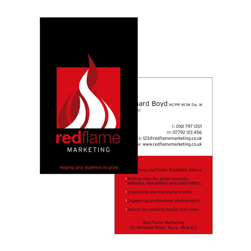 Red Flame business card design