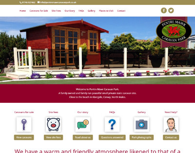 WordPress website for Pentre Mawr